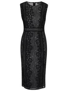 Čierne puzdrové čipkované šaty Ax Paris