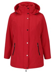 Červená zimní bunda s kapucí Ulla Popken