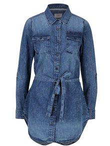Modrá džínová dlouhá košile s páskem Cars Cassandra