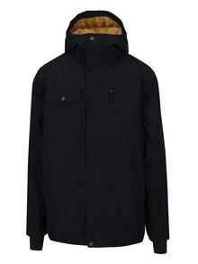 Čierna pánska zimná vodovzdorná funkčná bunda s kapucňou Quiksilver Mission