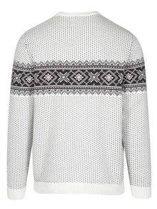 Šedo-krémový svetr s norským vzorem Selected Homme Blizzard