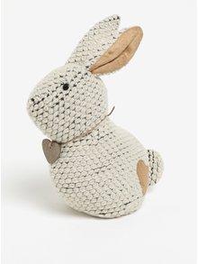 Krémová zarážka do dveří ve tvaru králíka SIFCON