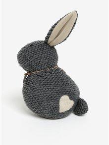 Tmavě šedá zarážka do dveří ve tvaru králíka SIFCON