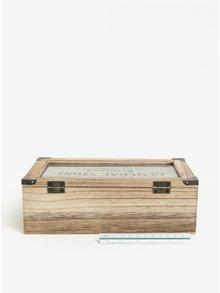 Hnedá drevená škatuľka na čaj SIFCON