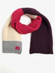 Ružovo-fialový dámsky pletený šál Tom Joule Annis
