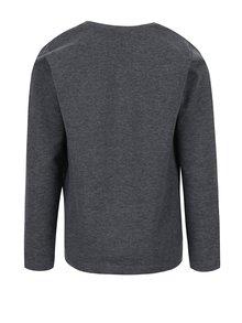 Tmavě šedé klučičí tričko s potiskem a dlouhým rukávem name it Vux