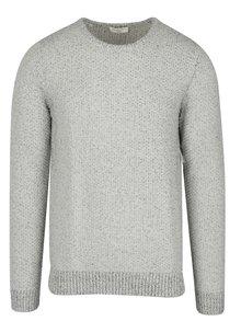Světle šedý žíhaný svetr Selected Homme Marnix