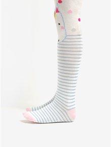 Krémové holčičí vzorované punčocháče s motivem jednorožce Tom Joule Anikins