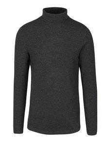 Tmavě šedé tričko s rolákem Selected Homme Damian
