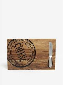 Set dřevěného prkénka a nože na sýry SIFCON