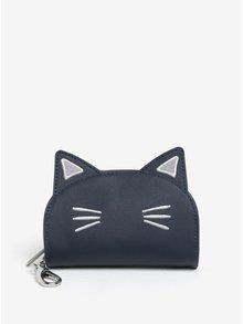 Tmavě modrá peněženka ve tvaru kočky Cath Kidston