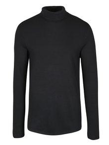 Černé tričko s rolákem Selected Homme Damian