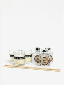 Darčeková súprava troch sviečok a difuzérov s vôňou bavlny SIFCON