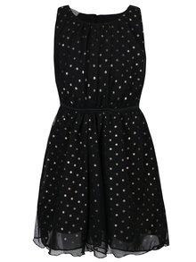Černé holčičí puntíkované šaty bez rukávů name it Boss