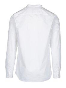 Bílá slim fit košile bez límce Selected Homme Done Edric