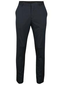 Tmavě modré vzorované oblekové kalhoty Selected Homme Done