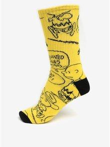 Žluté vzorované ponožky VANS Peanuts