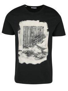Černé tričko s potiskem Selected Homme Prince