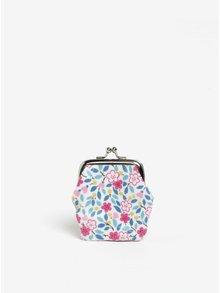 Ružovo-biela dievčenská kvetovaná peňaženka Cath Kidston