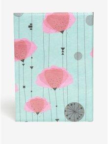 Zeleno-růžový zápisník se vzorem I Like Paper A5