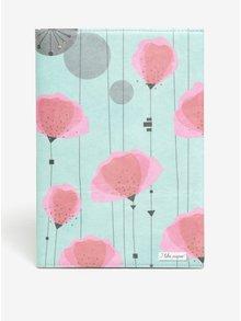 Zeleno-ružový zápisník so vzorom I like Paper A5