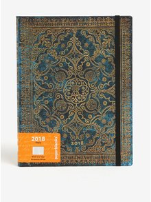 Agenda 2018 albastru&auriu Paperblanks Azure