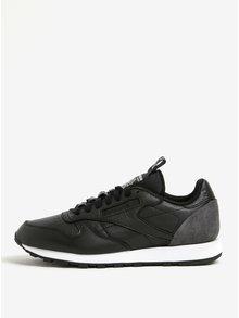 Pantofi sport negri din piele naturala pentru barbati - Reebok