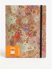 Agenda 2018 roz&mov cu print floral  Paperblanks Kikka