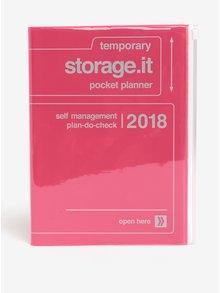 Růžový diář pro rok 2018 Mark's Storage.It A5