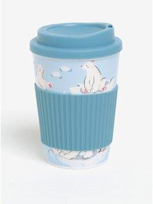 Bílo-modrý cestovní hrnek s motivem ledních medvedů Cath Kidston 330 ml