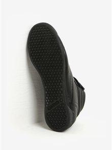 Černé dámské kožené kotníkové tenisky s přezkou Reebok
