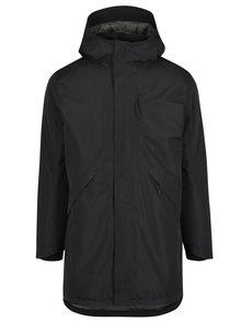 Čierna páperová zimná vodovzdorná parka s kapucňou Selected Homme Ted