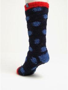 Tmavě modré dámské puntíkované ponožky Tom Joule Fab Fluffy