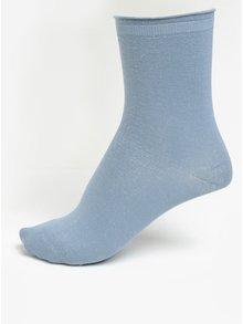 Světle modré ponožky s odlesky ve stříbrné barvě Selected Femme Lucy