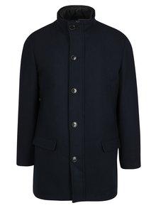 Tmavě modrý kabát s příměsí vlny Selected Homme Hannower