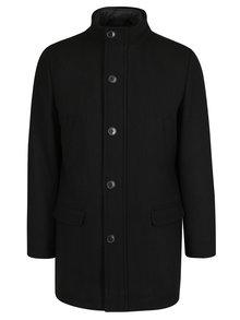 Černý kabát s příměsí vlny Selected Homme Hannower