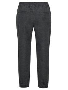Tmavě šedé kostkované volné kalhoty ONLY Sophie