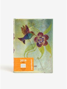 Metalický zelený diář 2018 Paperblanks Hummingbird