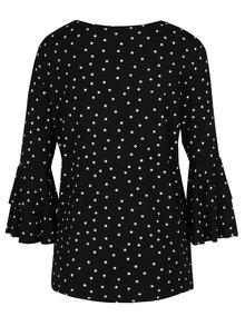 Bluza neagra cu maneci clopot si print - Haily´s Melinda