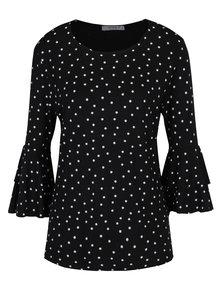 Černé puntíkované tričko se zvonovými rukávy Haily´s Melinda