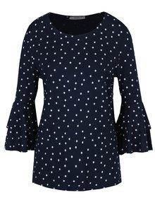 Bluza bleumarin cu maneci clopot si print - Haily´s Melinda