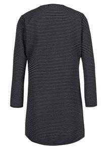 Cardigan lung gri & negru cu model in dungi - Haily´s Sandy