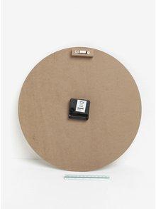 Hnedé drevené nástenné hodiny SIFCON