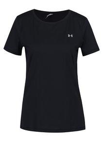 Černé dámské funkční tričko s krátkým rukávem Under Armour