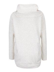 Krémový svetr s vysokým límcem Miss Selfridge
