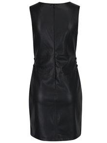 Rochie mini neagra tubulara cu aspect de piele  - Miss Selfridge
