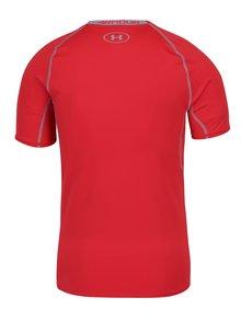 Sivo–červené pánske funkčné tričko s krátkym rukávom Under Armour