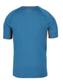 Sivo-modré pánske funkčné tričko s krátkym rukávom Under Armour