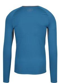 Sivo–modré pánske funkčné tričko s dlhým rukávom Under Armour