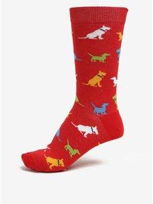 Červené ponožky s motivem psů ZOOT